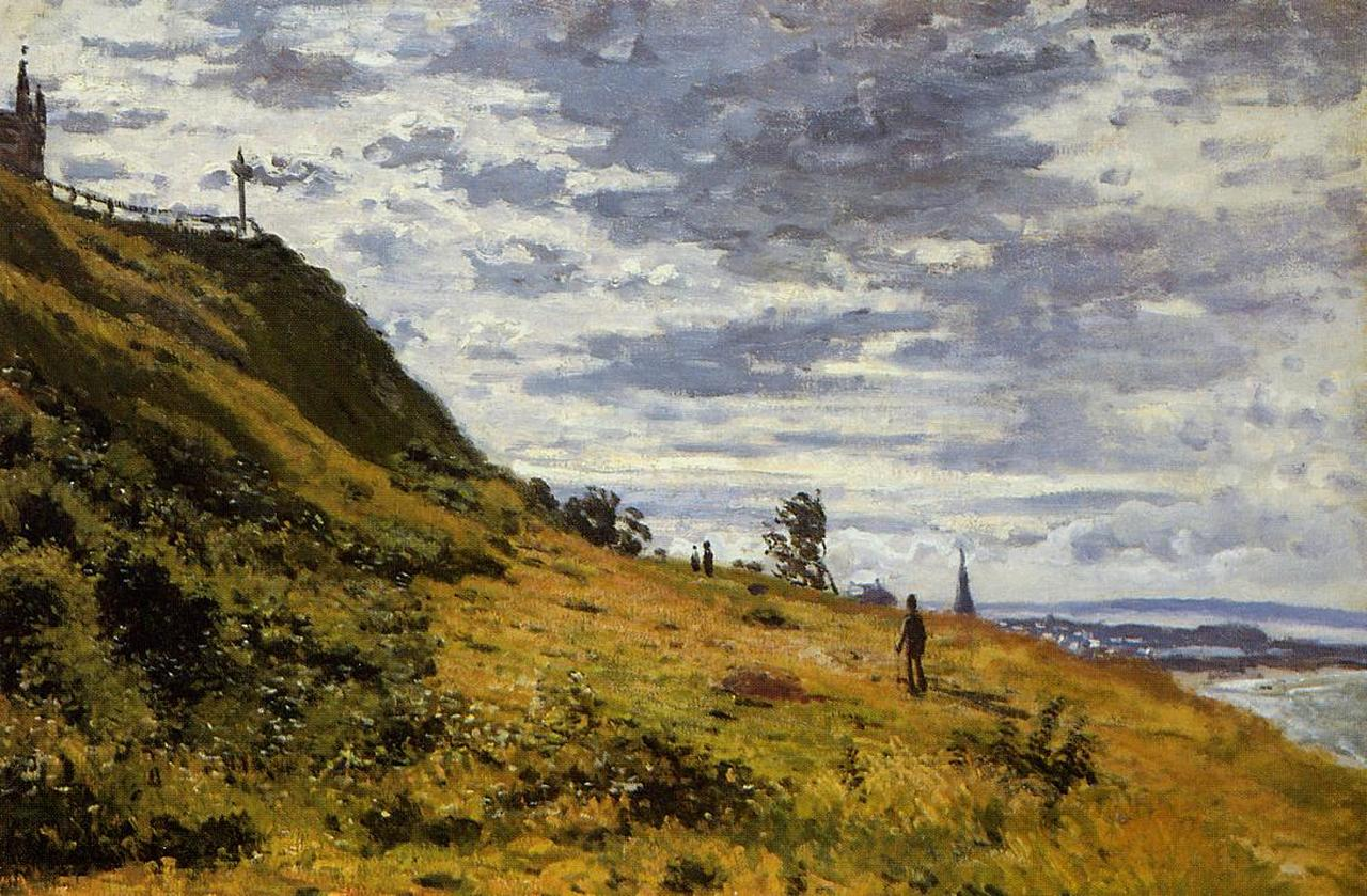 Taking a Walk on the Cliffs of Sainte-Adresse 1867