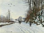 The Road to the Farm of Saint-Simeon in Winter