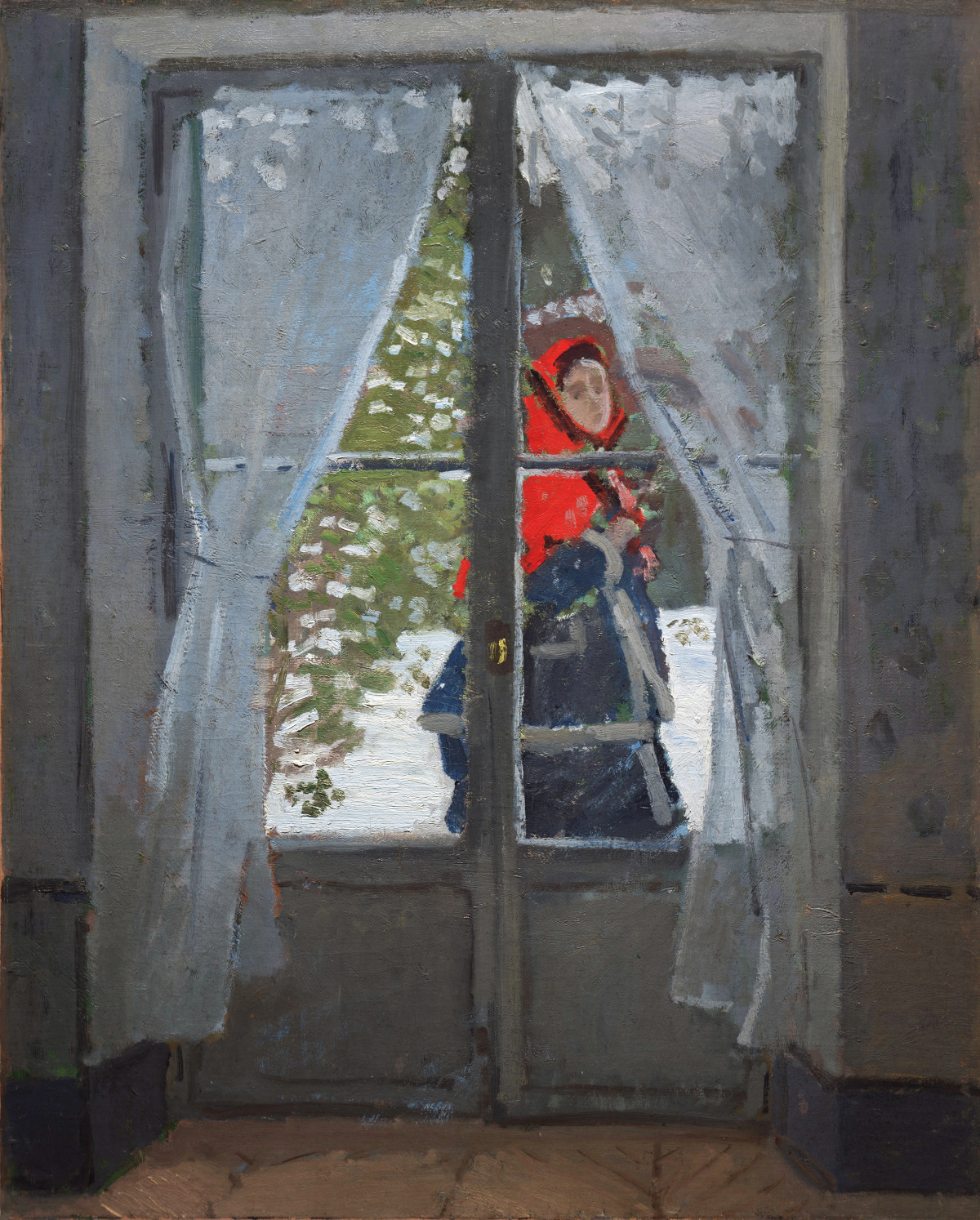 Madame Monet or The Red Cape 1870