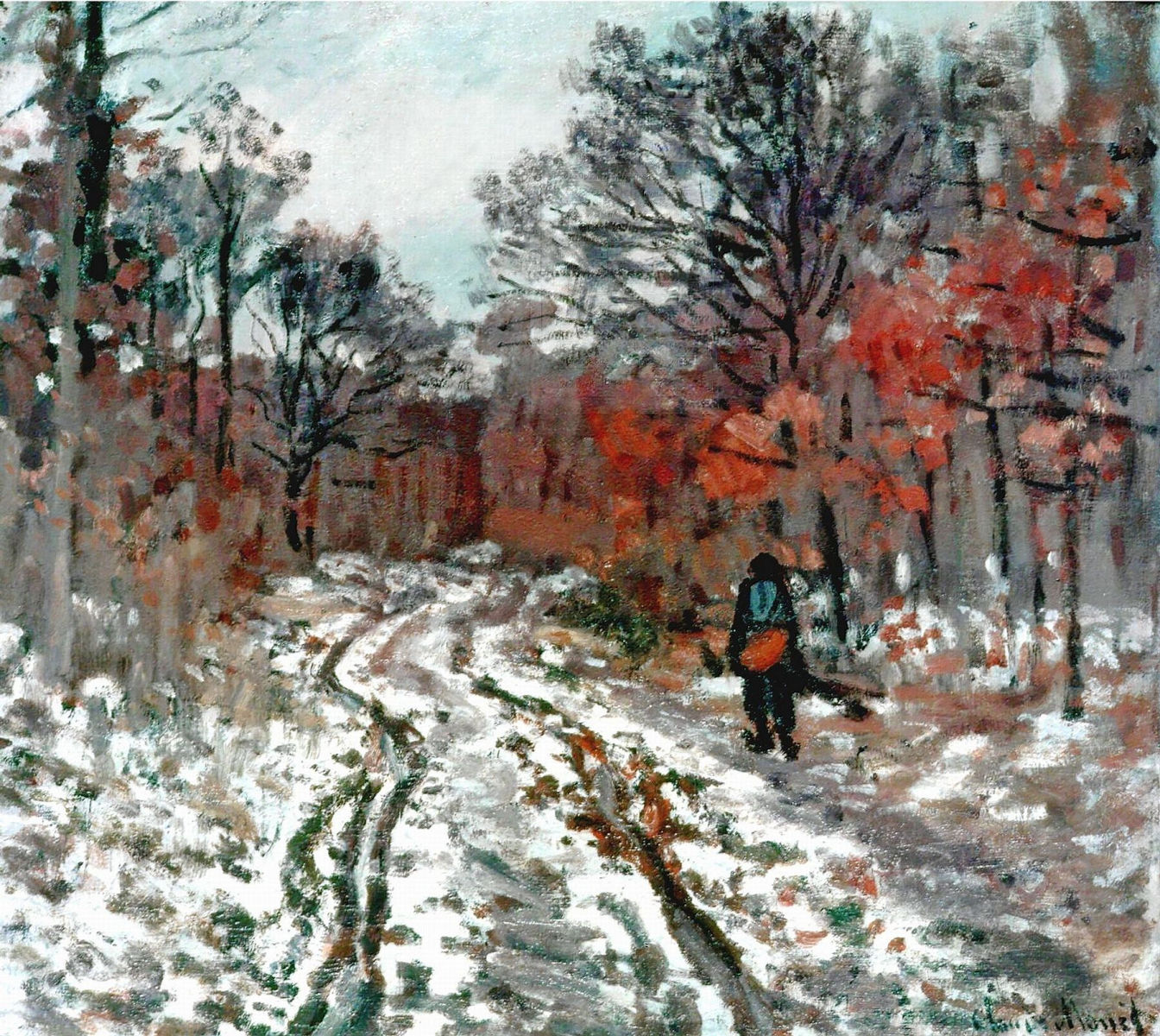 Path through the Forest, Snow Effect 1870