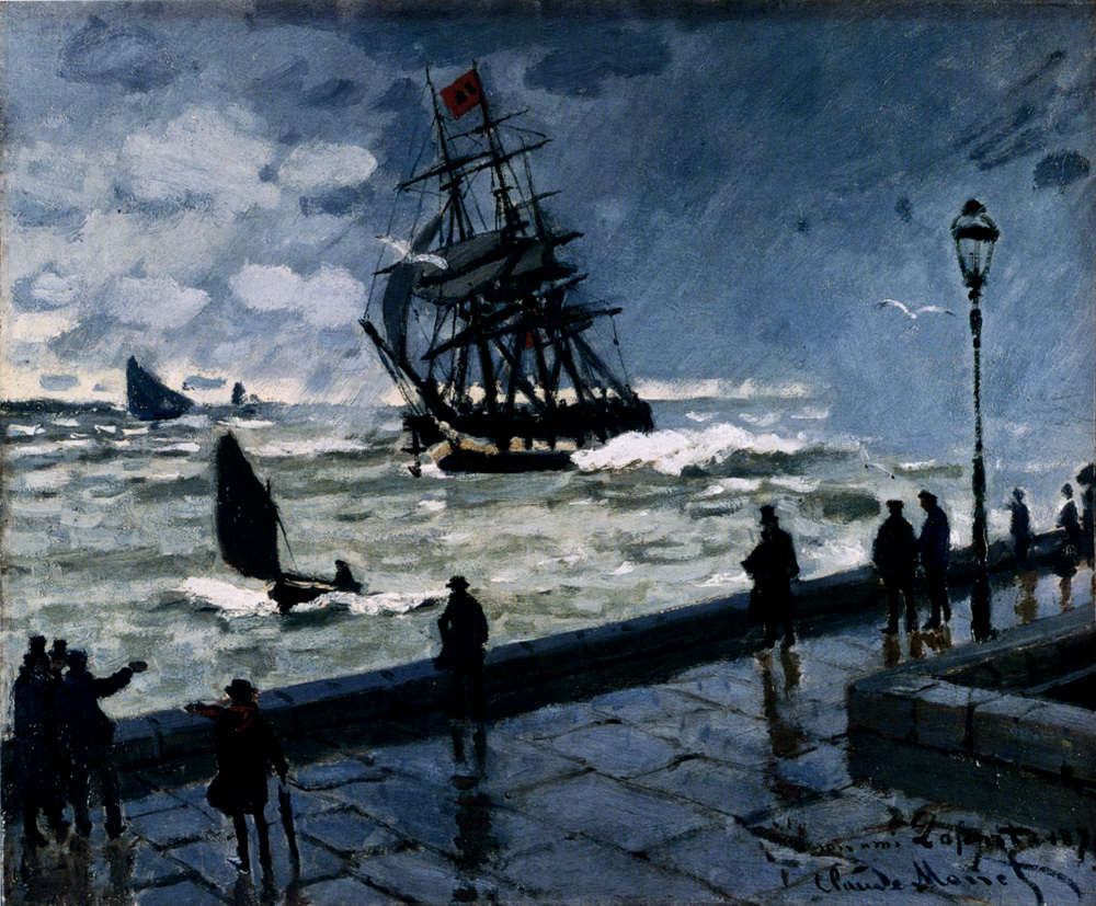 The Jetty at Le Havre, Bad Weatherv 1870