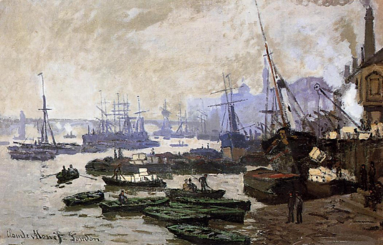 Boats in the Pool of London 1871