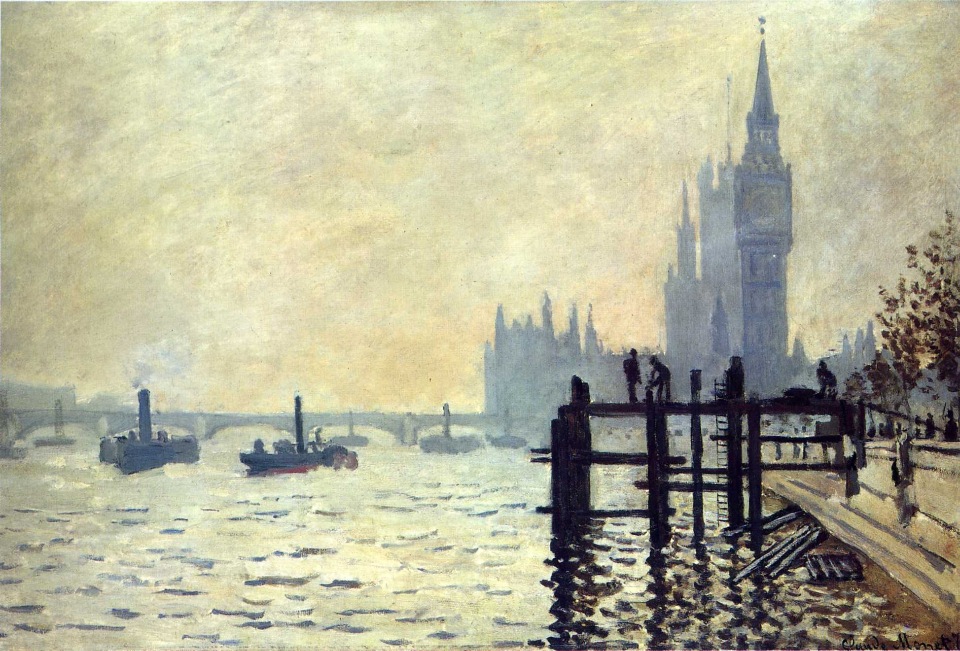 The Thames below Westminster 1871