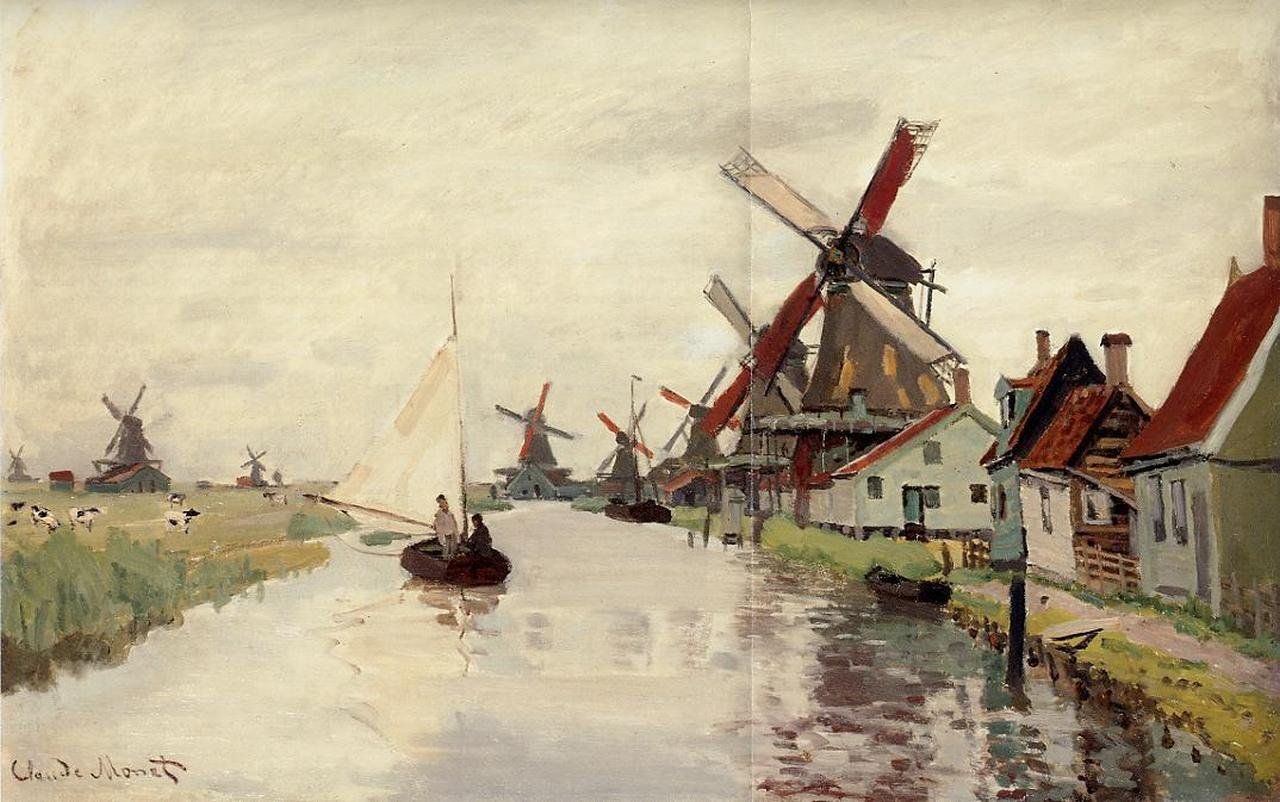 Windmills in Holland 1871