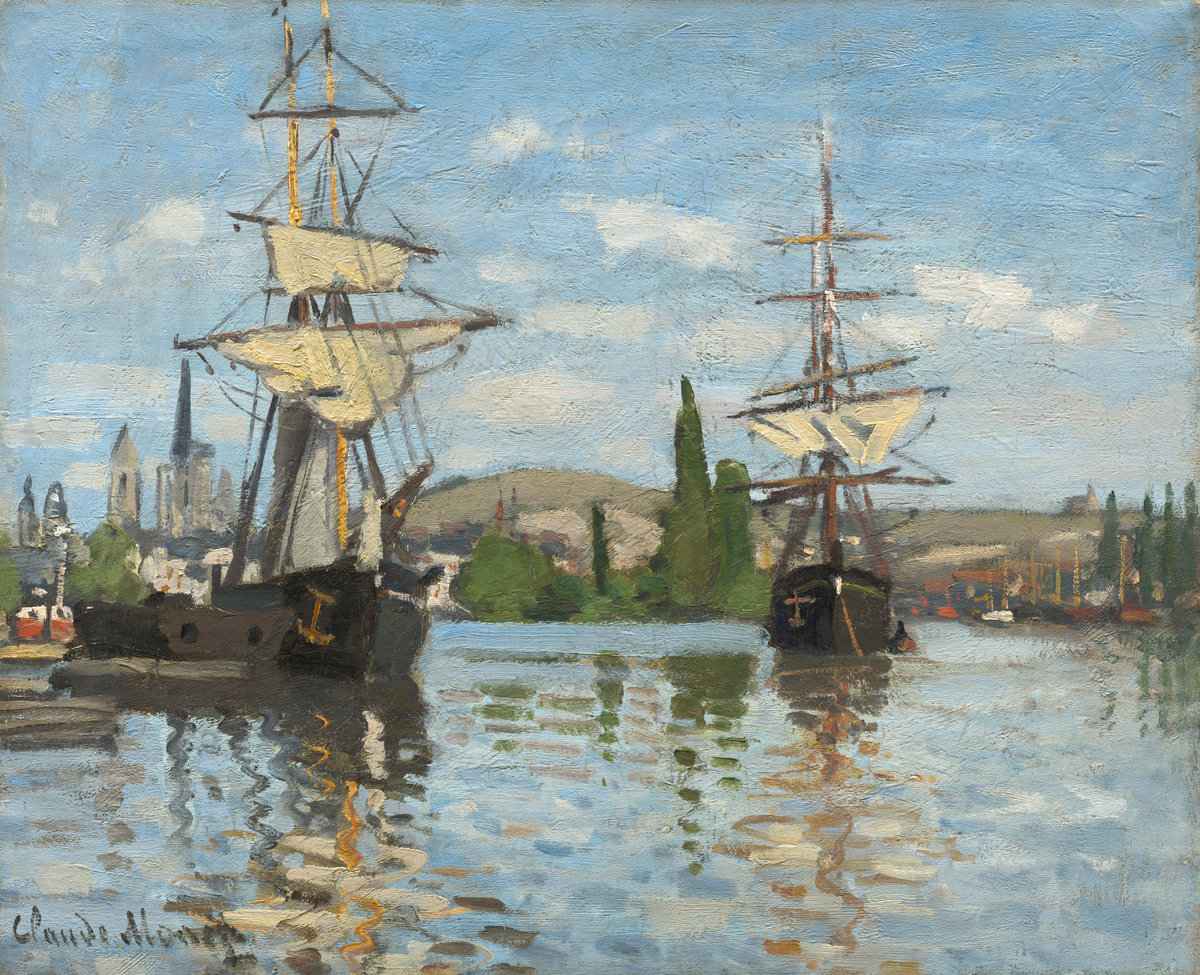 Ships Riding on the Seine at Rouen 1872