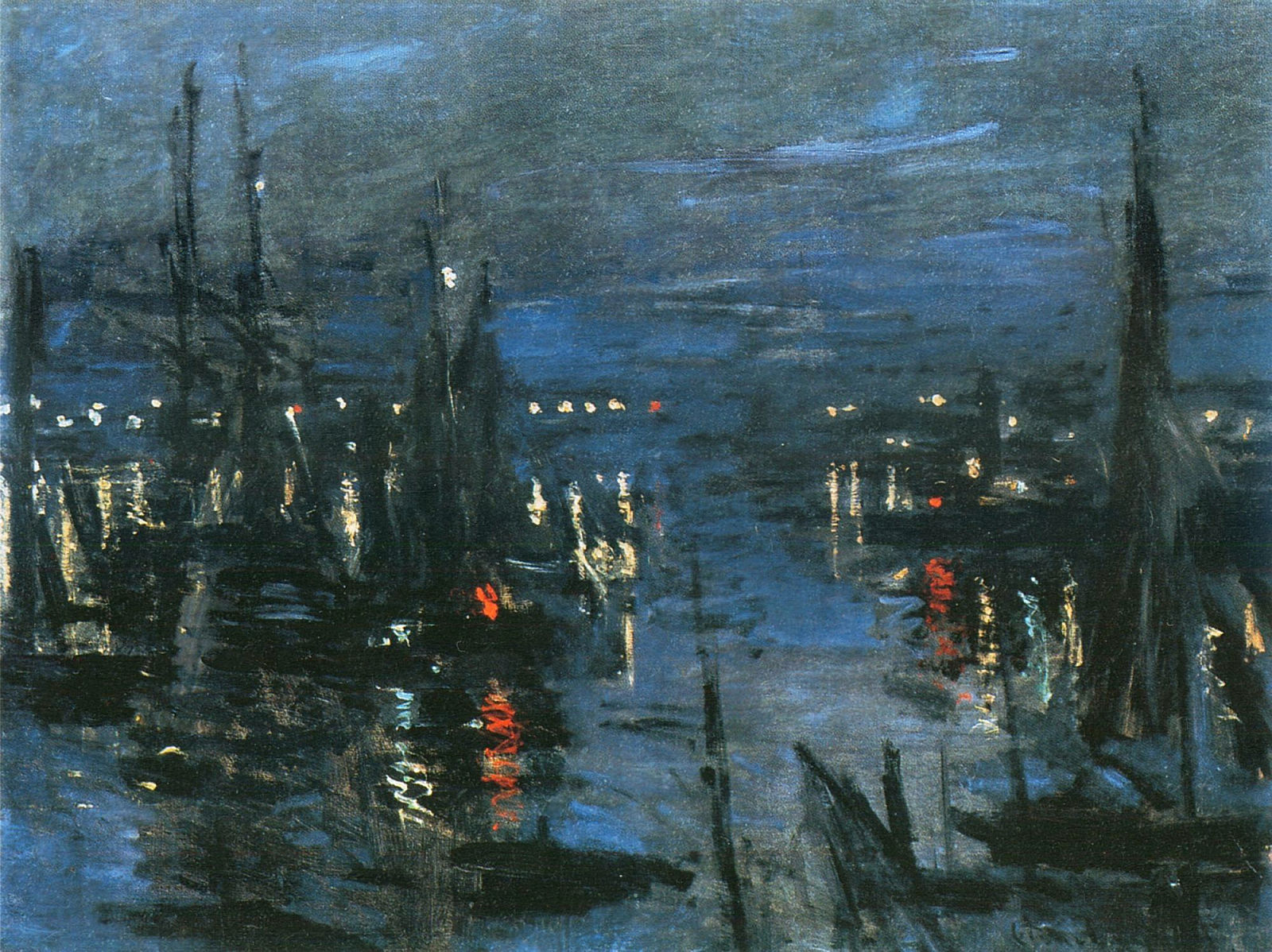 The Port of Le Havre, Night Effect 1873
