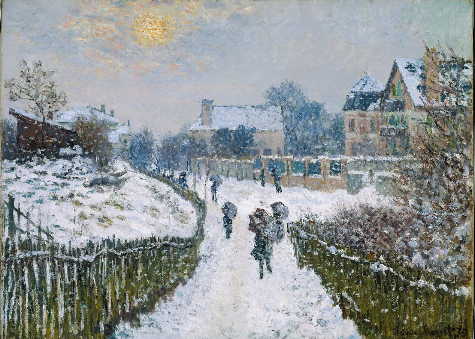 Boulevard Saint-Denis, Argenteuil, in Winter 1875