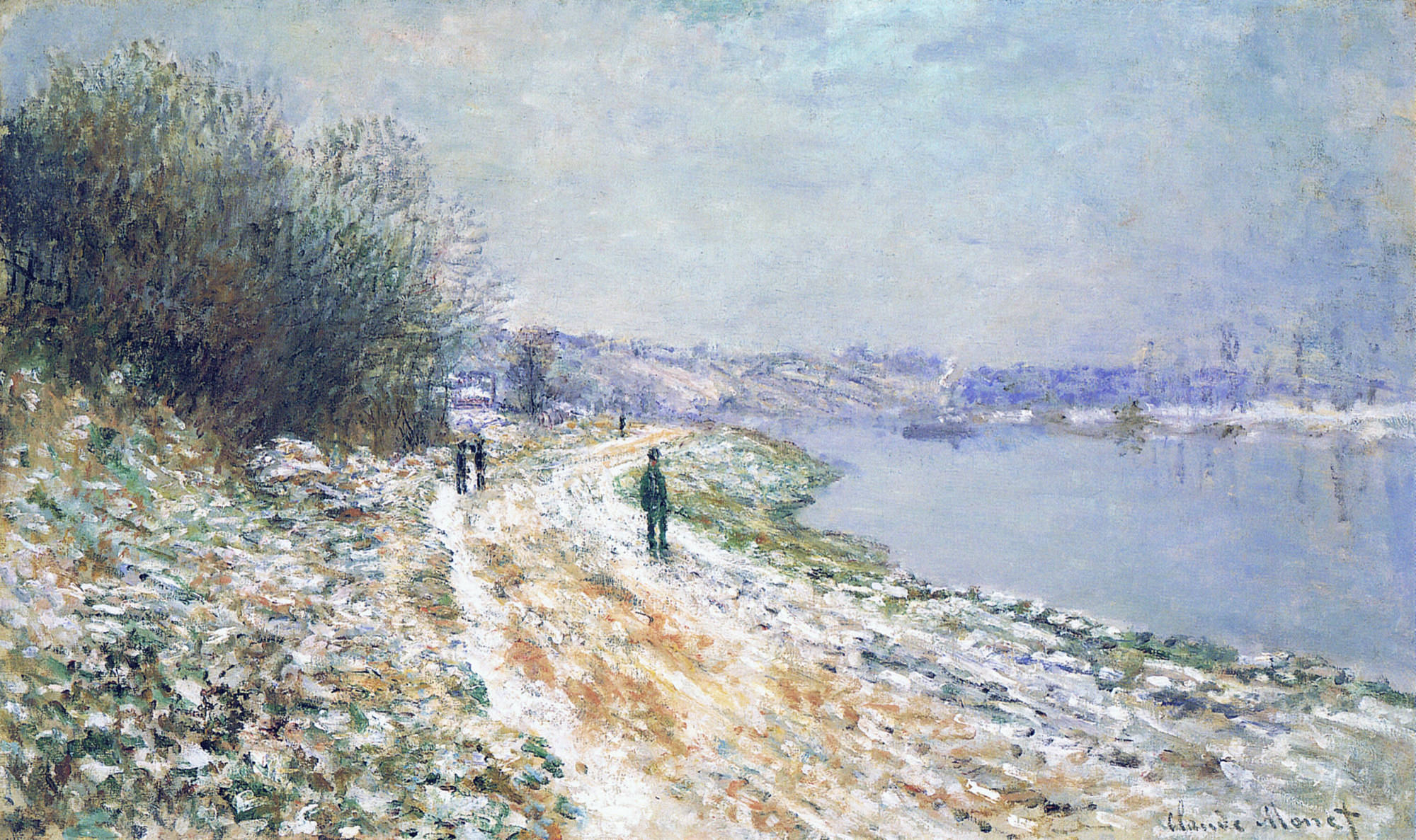 The Tow Path at Argenteuil, Winter 1875