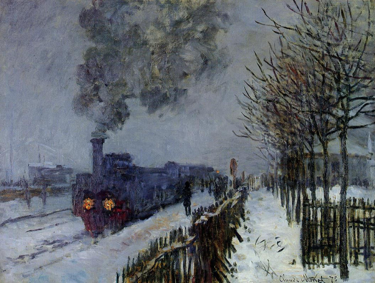 Train in the Snow or The Locomotive 1875