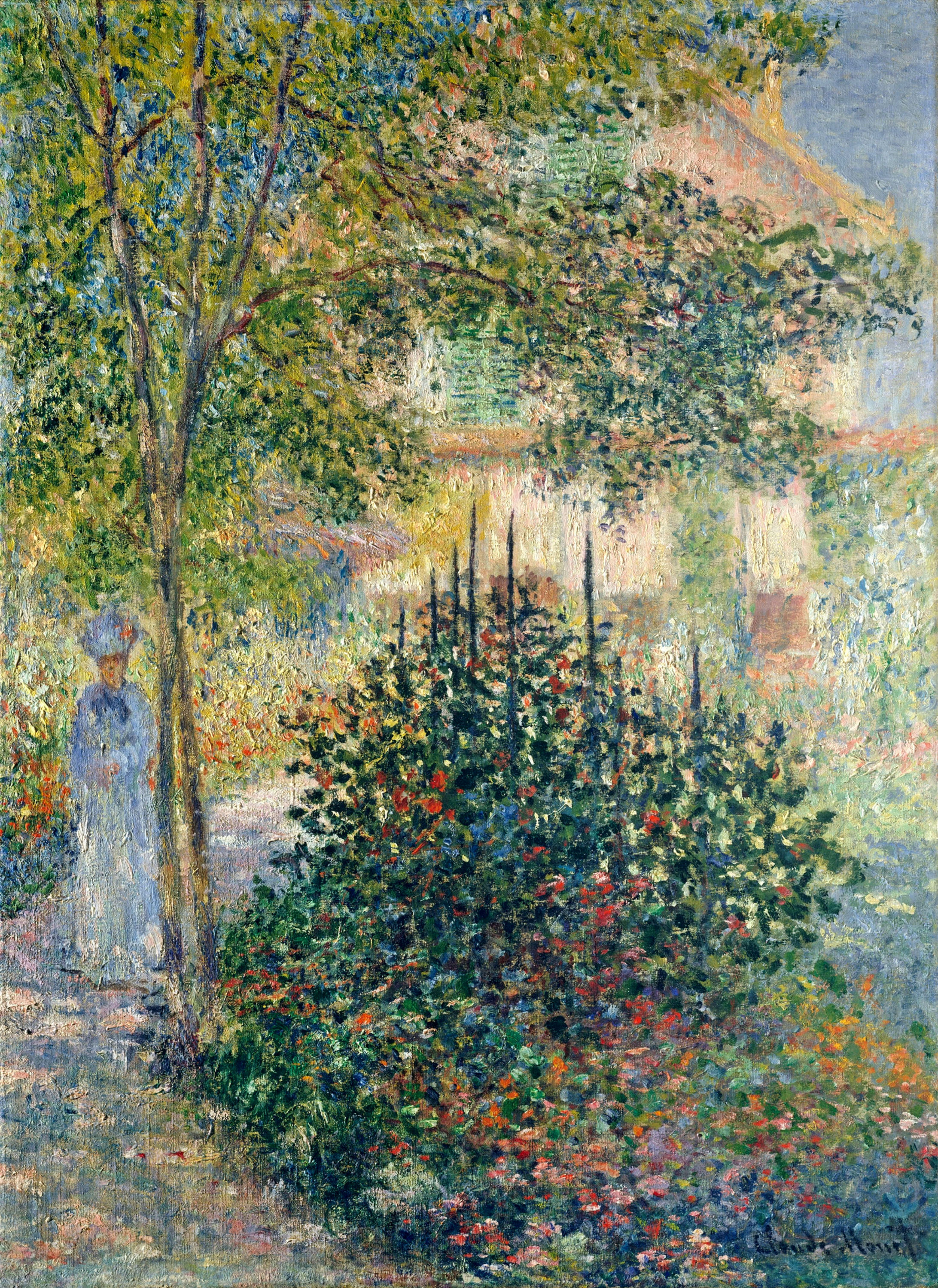 Camille Monet in the Garden at the House in Argenteuil 1876