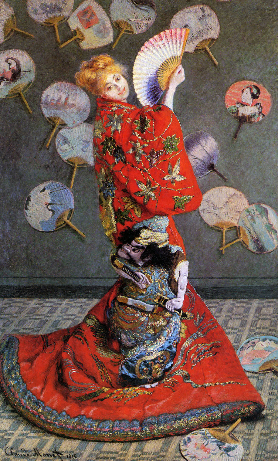 Japan's  or Camille Monet in Japanese Costume 1876