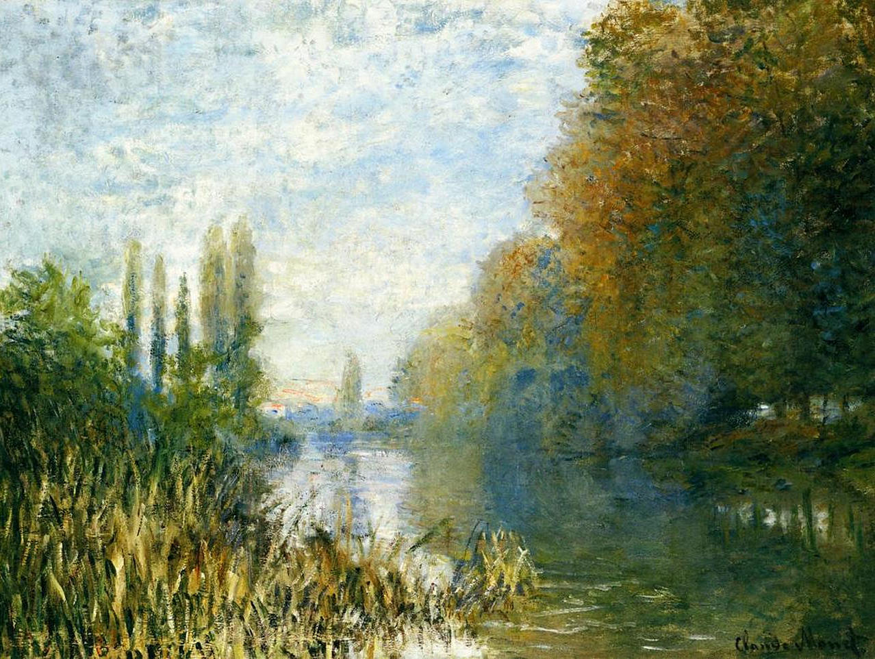 The Banks of The Seine in Autumn 1876
