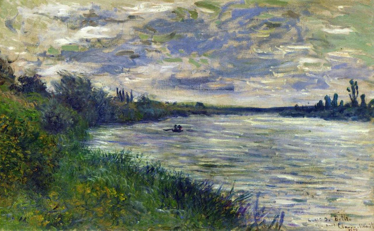 The Seine near Vetheuil, Stormy Weather 1878