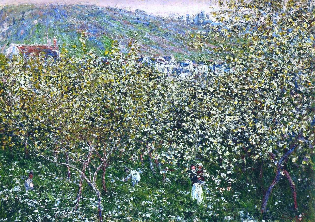 Vetheuil, Flowering Plum Trees 1879