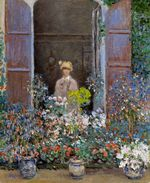 Camille Monet at the Window, Argentuile