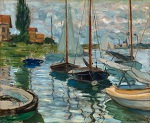 Sailboats on the Seine at Petit-Gennevilliers 1874