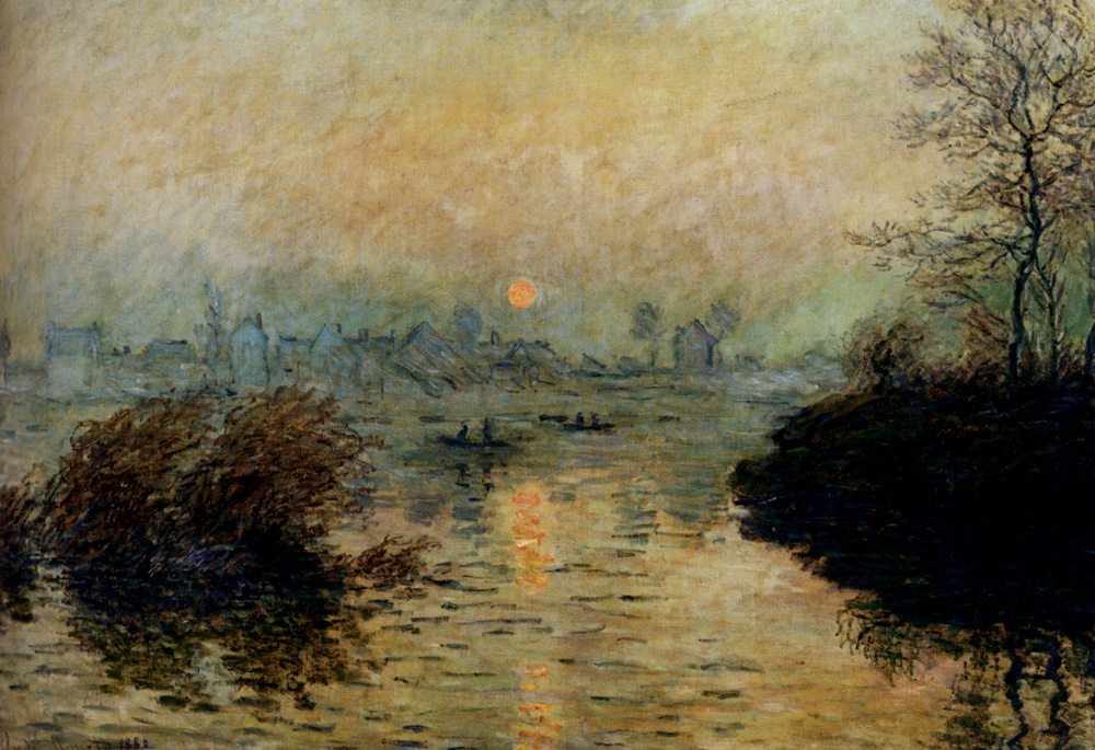Sun Setting over the Seine at Lavacourt. Winter Effect 1880