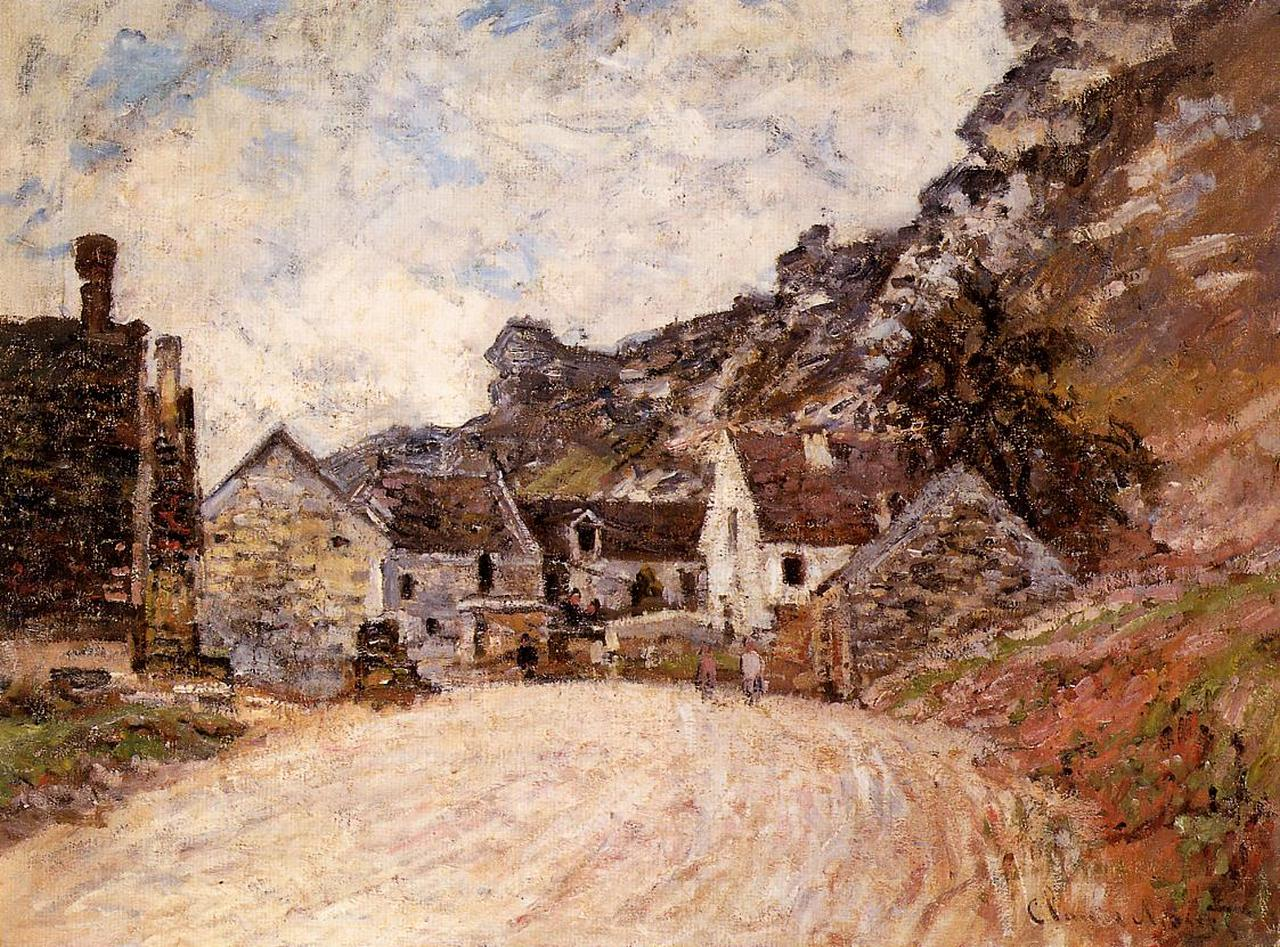 The Hamlet of Chantemesie at the Foot of the Rock 1880