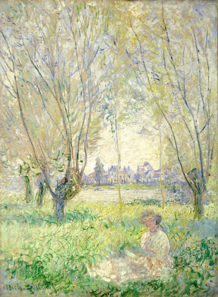 Woman Sitting under the Willows 1880