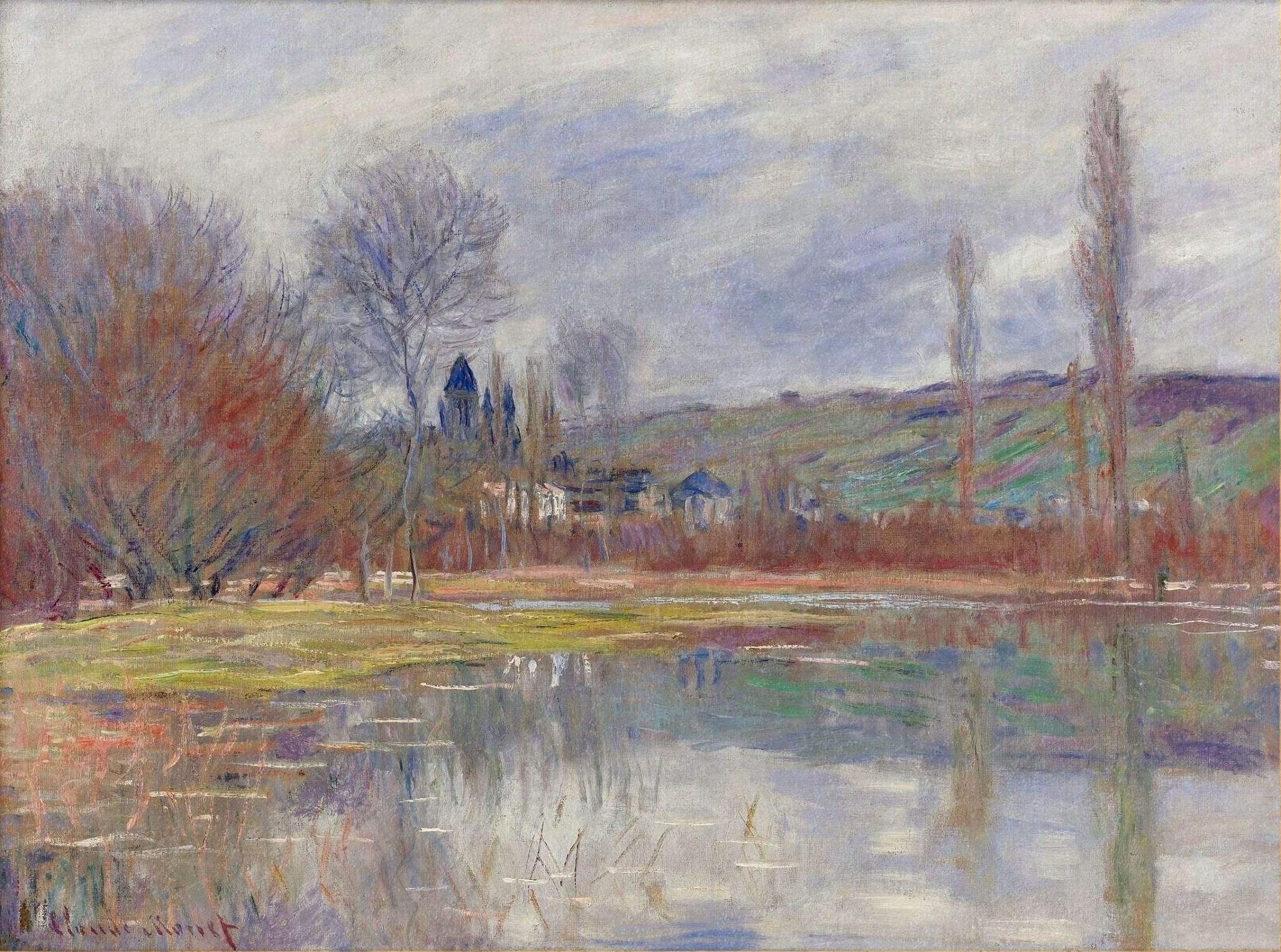 The Spring at Vetheuil 1881