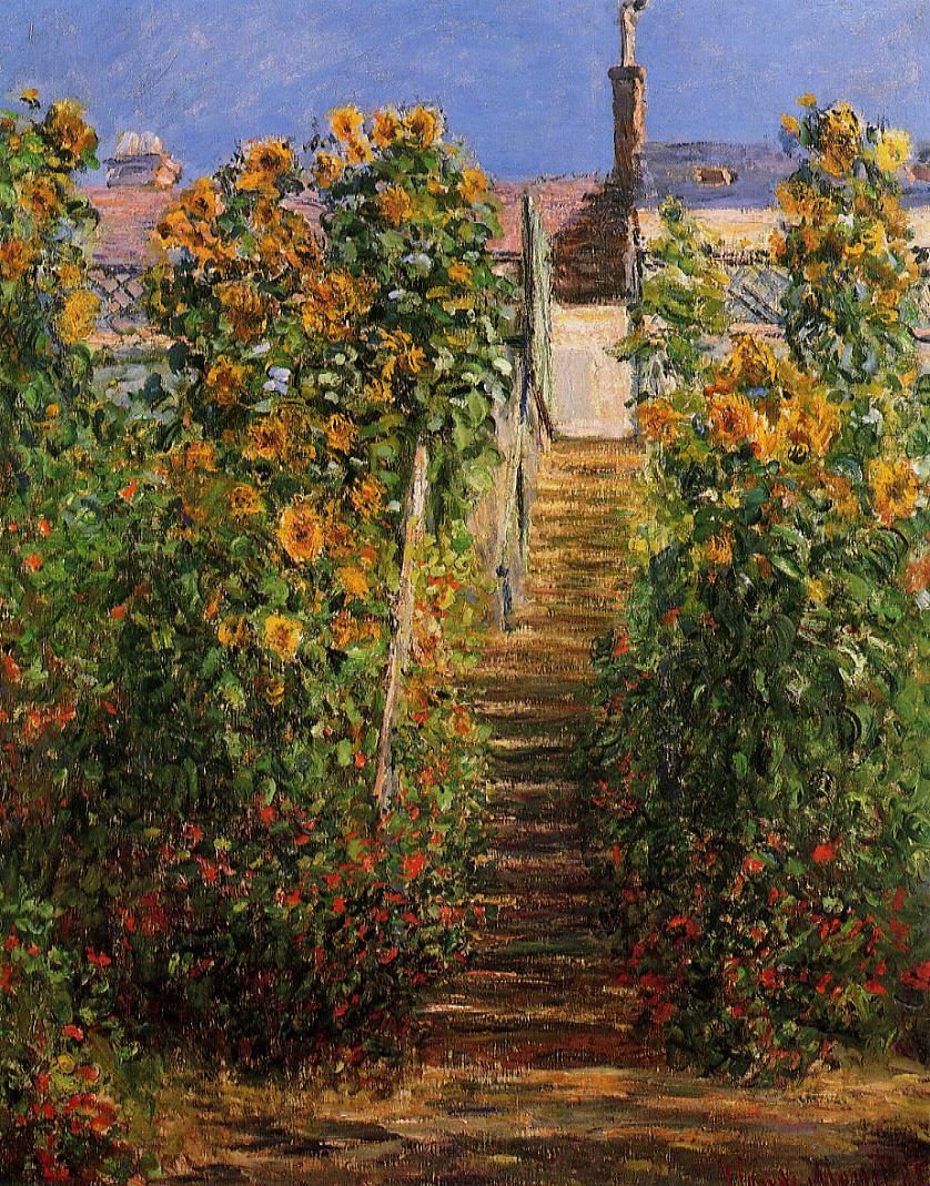 The Steps at Vetheuil 1881