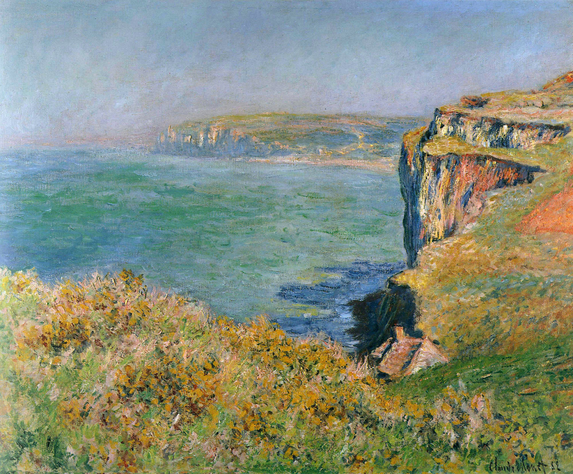 Cliff at Grainval 1882