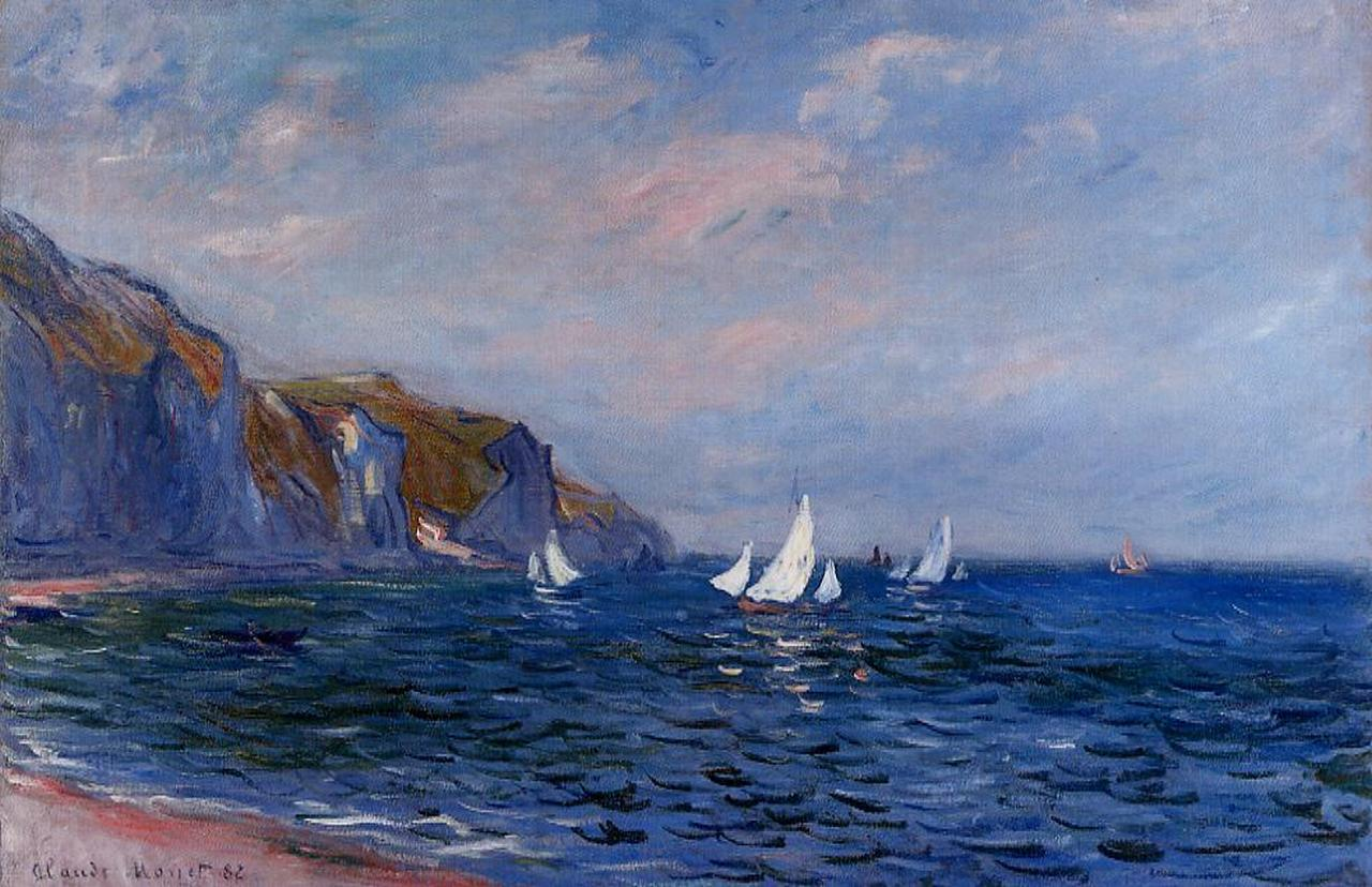 Cliffs and Sailboats at Pourville 1882