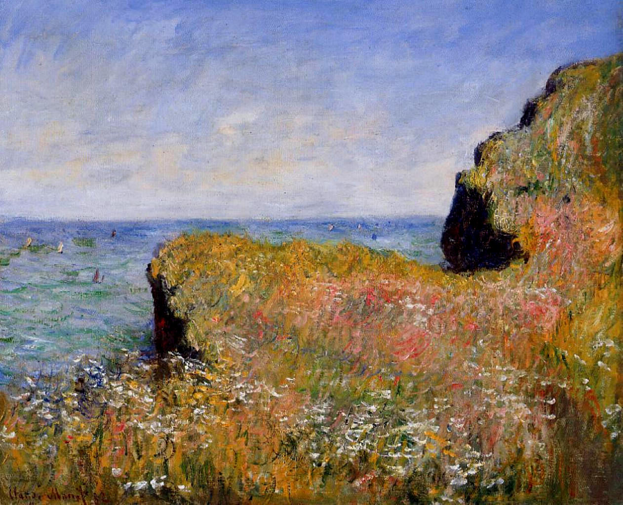 Edge of the Cliff, Pourville 1882