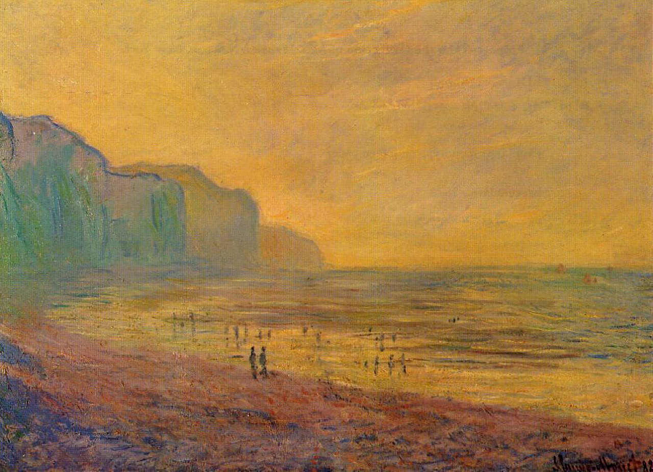 Low Tide at Pourville, Misty Weather 1882