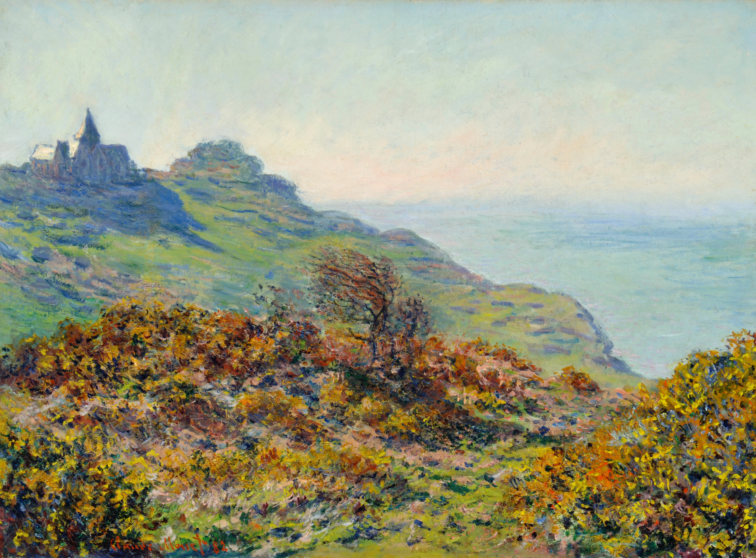 The Church at Varengeville and the Gorge of Les Moutiers 1882