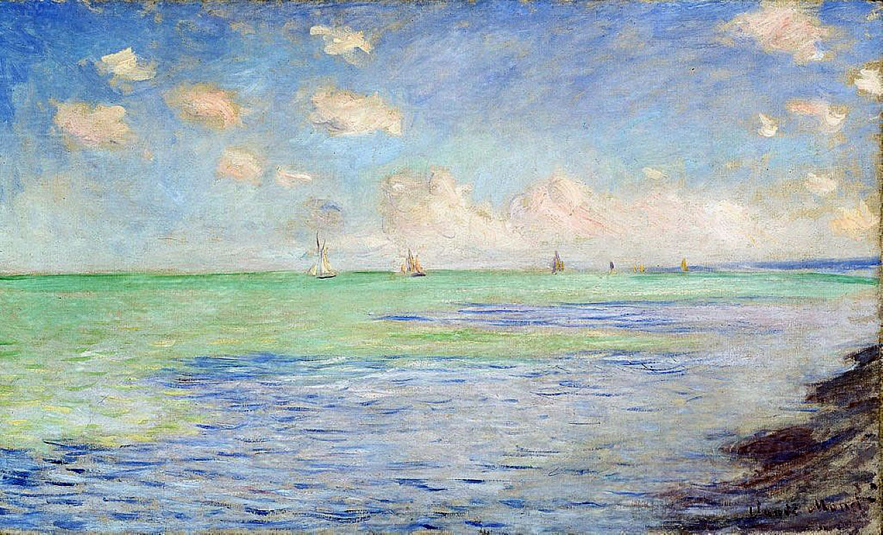 The Sea at Pourville 1882