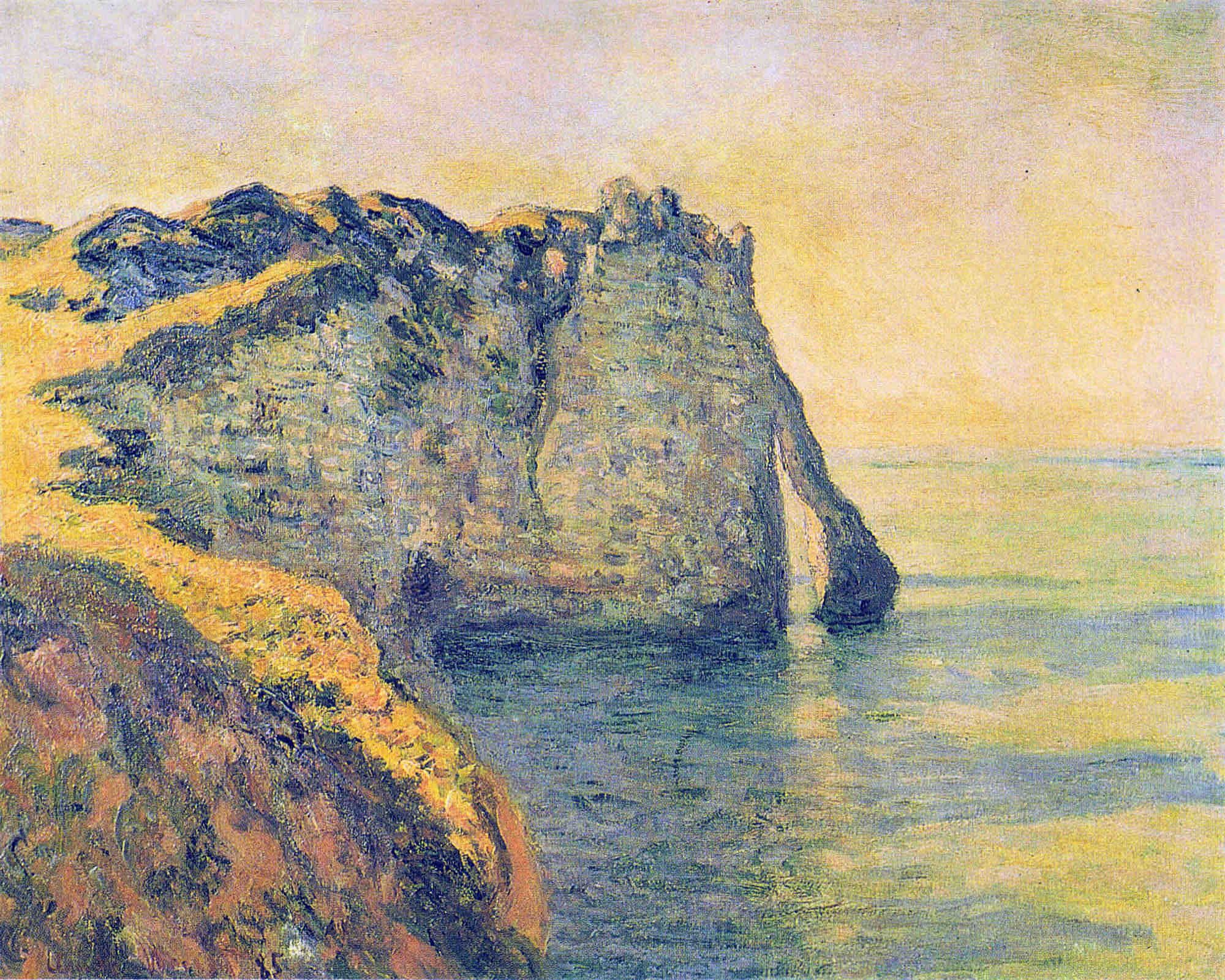 Cliffs of the Porte d'Aval 1885