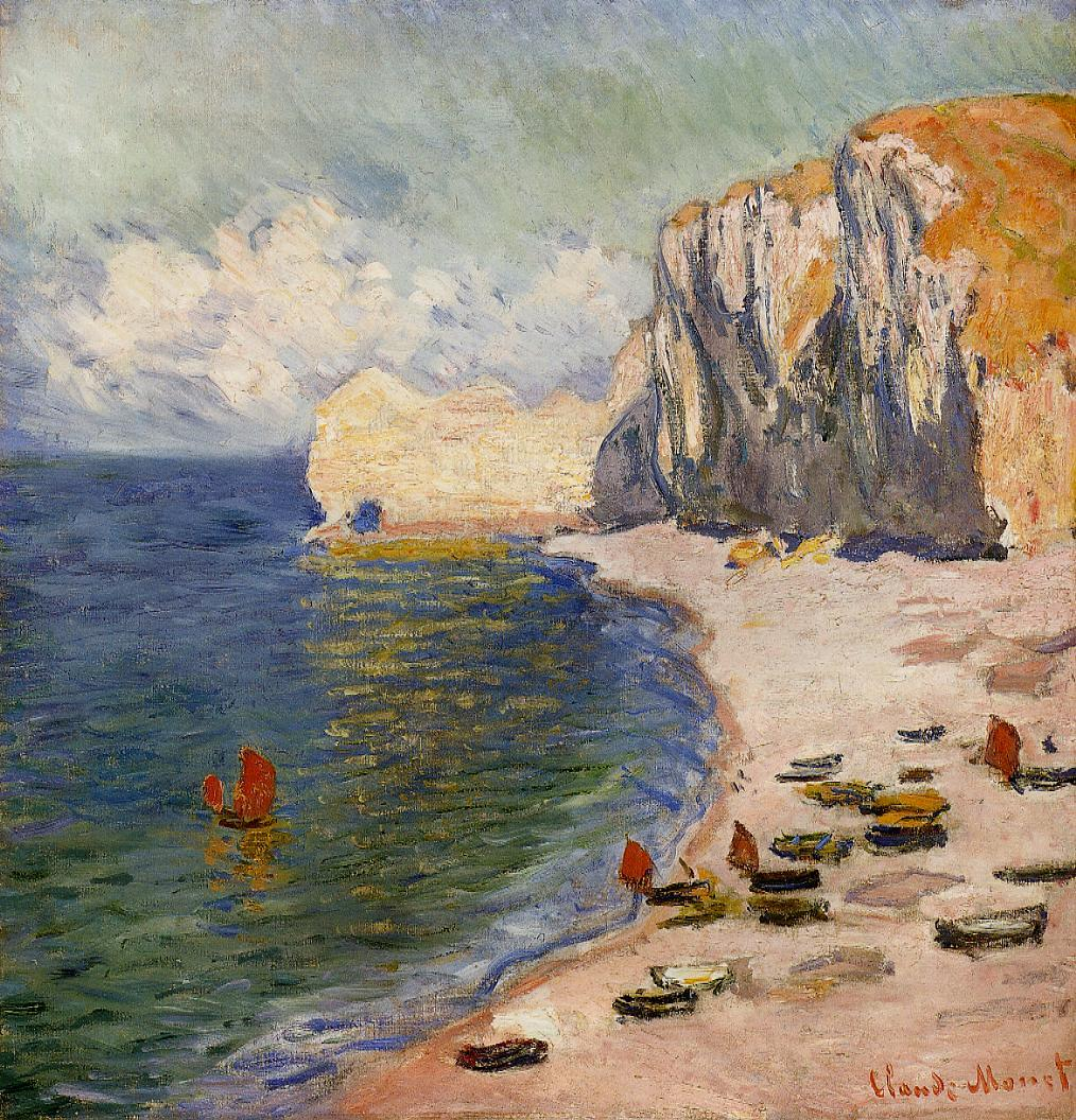The Beach and the Falaise d'Amont 1885