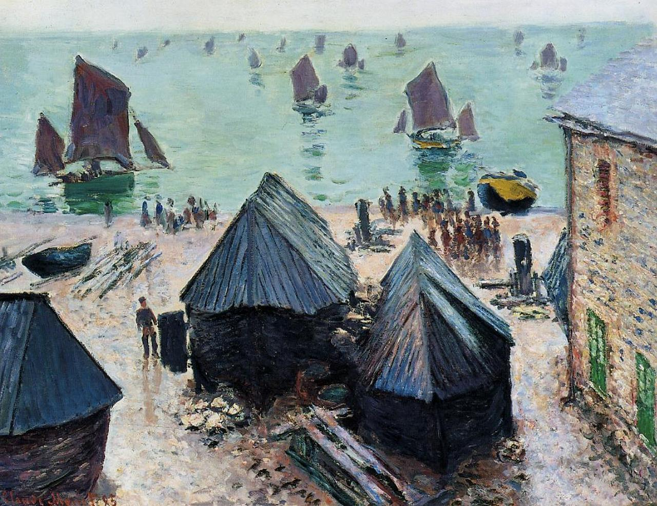The Departure of the Boats, Etretat 1885