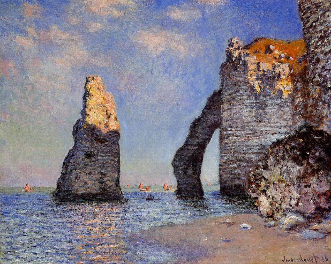 The Rock Needle and the Porte d'Aval 1885