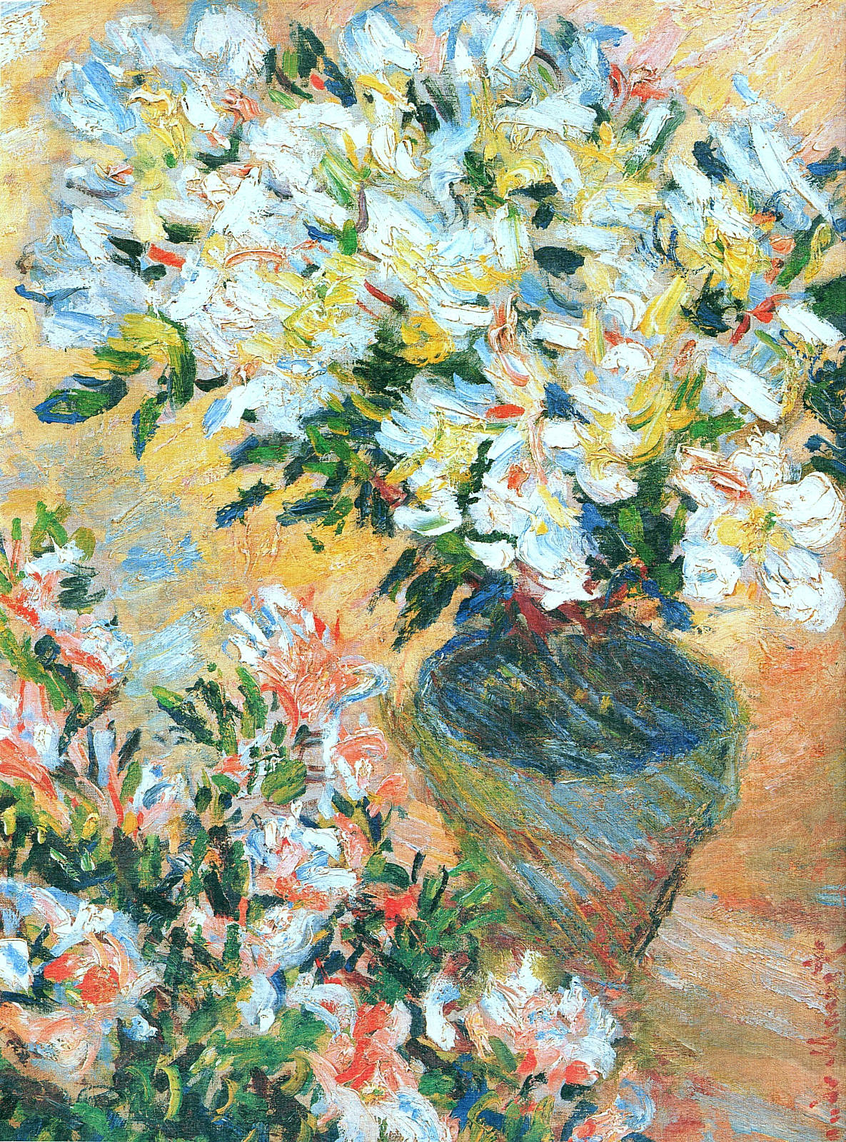 White Azaleas in a Pot 1885