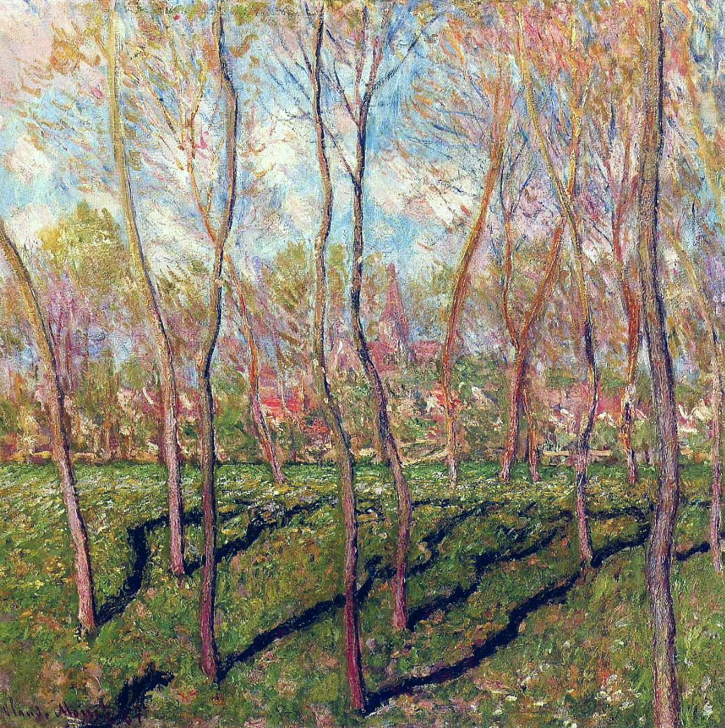 Trees in Winter, View of Bennecourt 1887