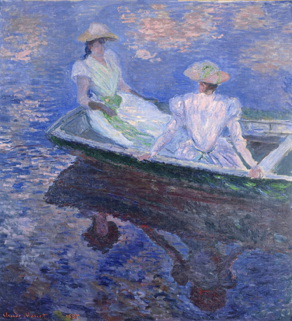 Young Girls in a Row Boat 1887