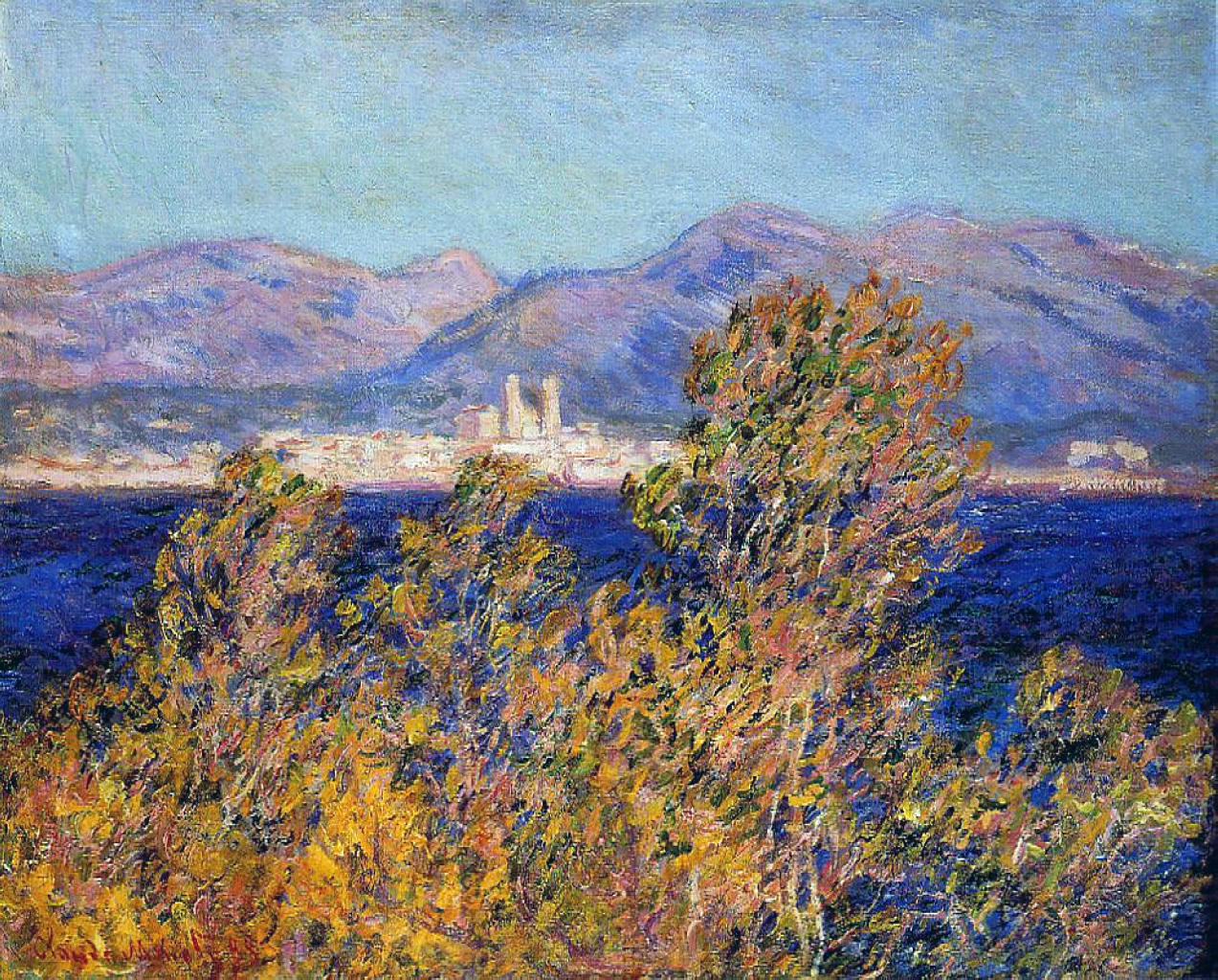 Antibes Seen from the Cape, Mistral Wind 1888