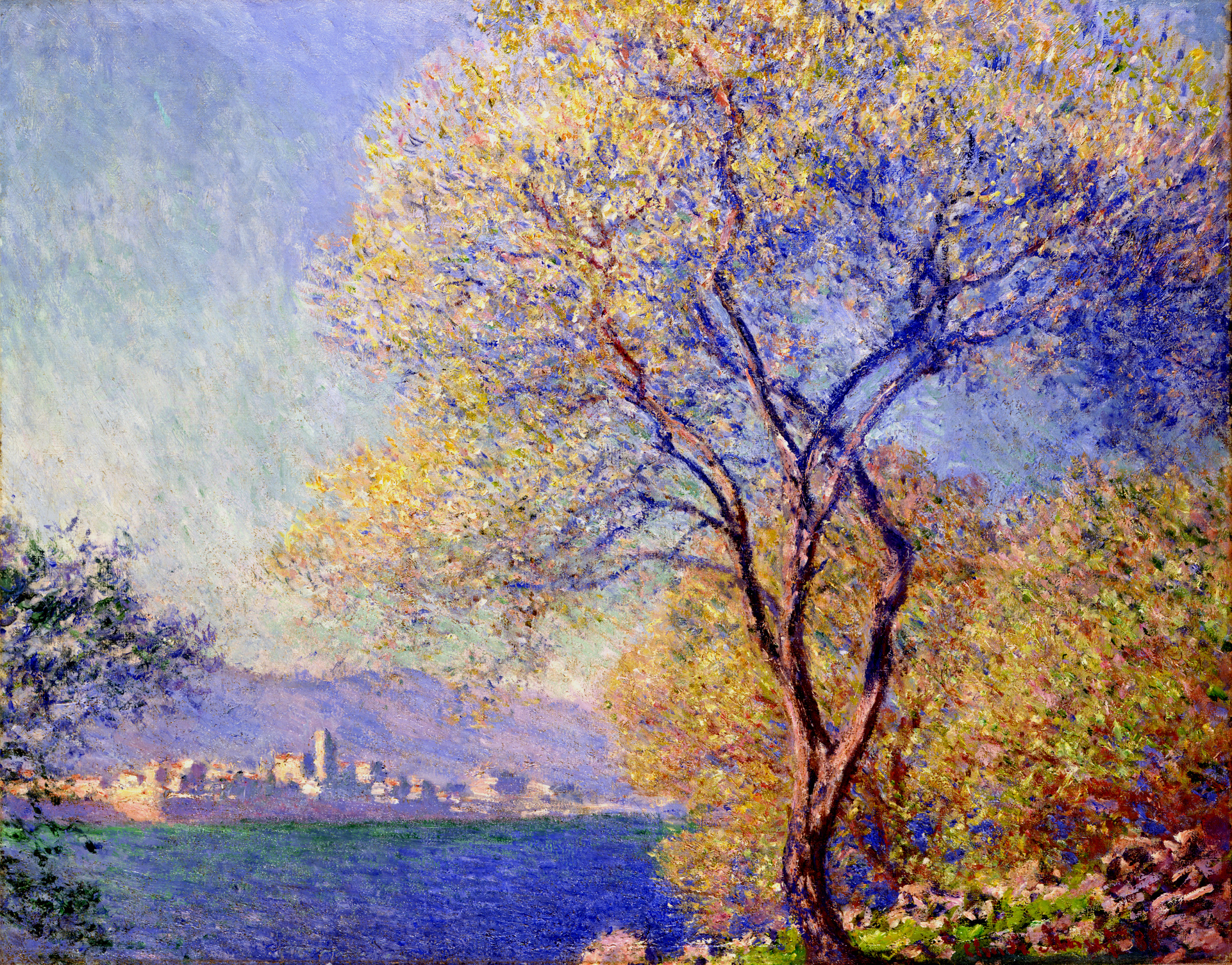 Antibes Seen from the Salis Gardens 1888