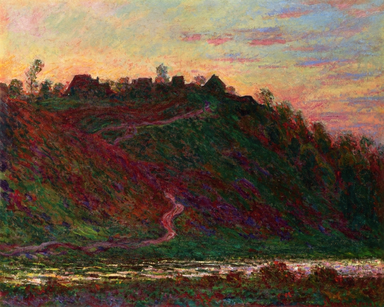 The Village of La Roche-Blond, Sunset 1889