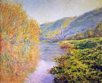 Banks of the Seine at Jeufosse, Autumn