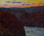 Valley of the Creuse, Sunset
