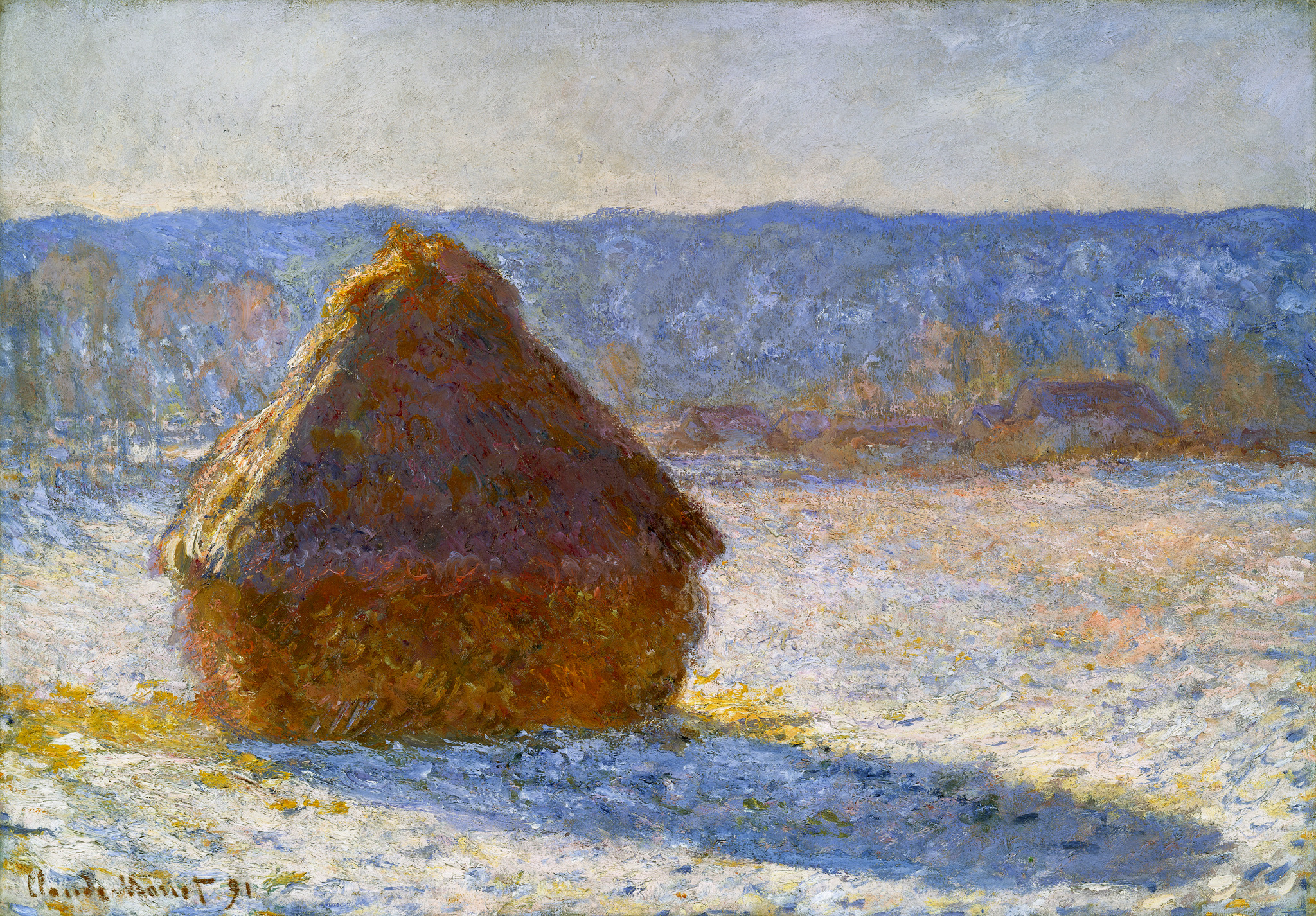 Grainstack in the Morning, Snow Effect 1891