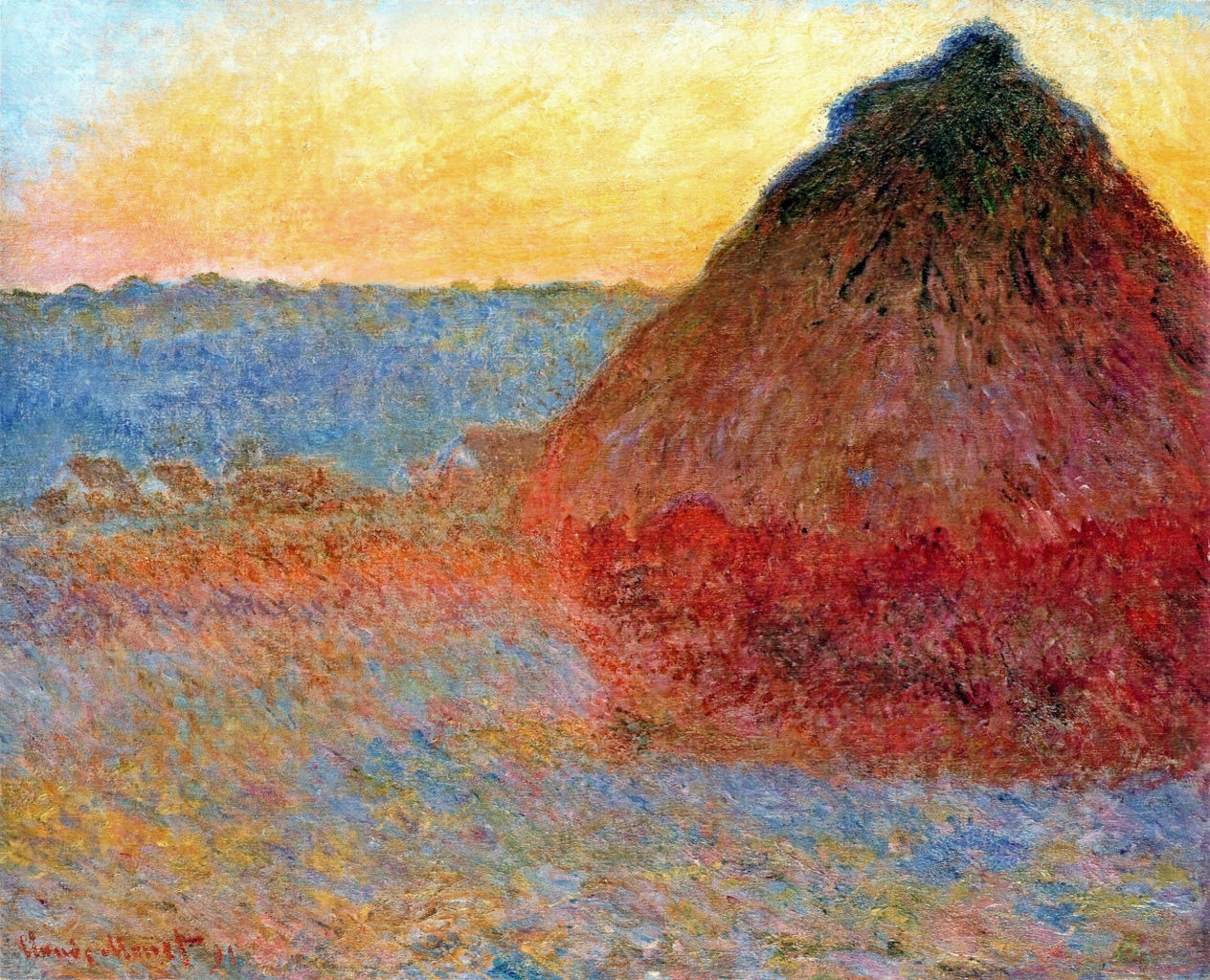 Grainstack, Impression in Pinks and Blues 1891