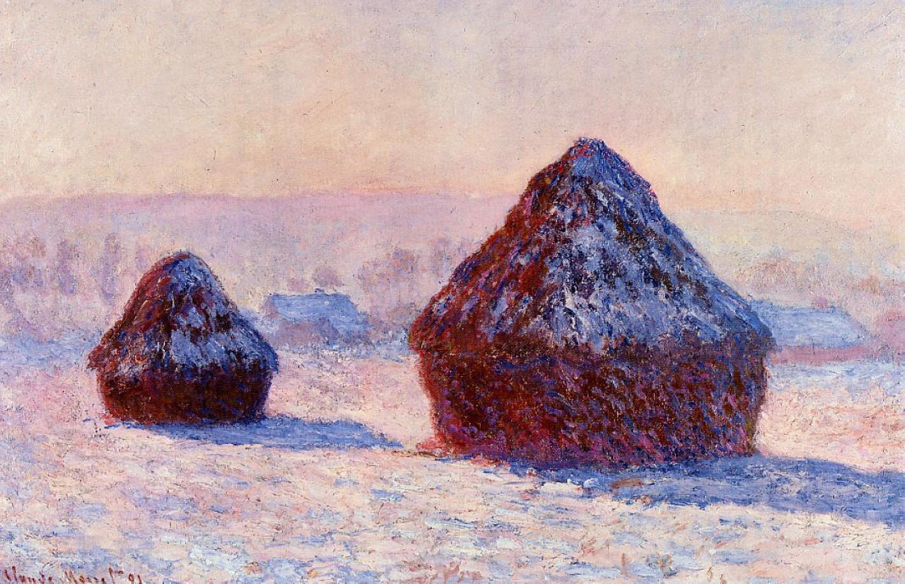 Grainstacks in the Morning, Snow Effect 1891