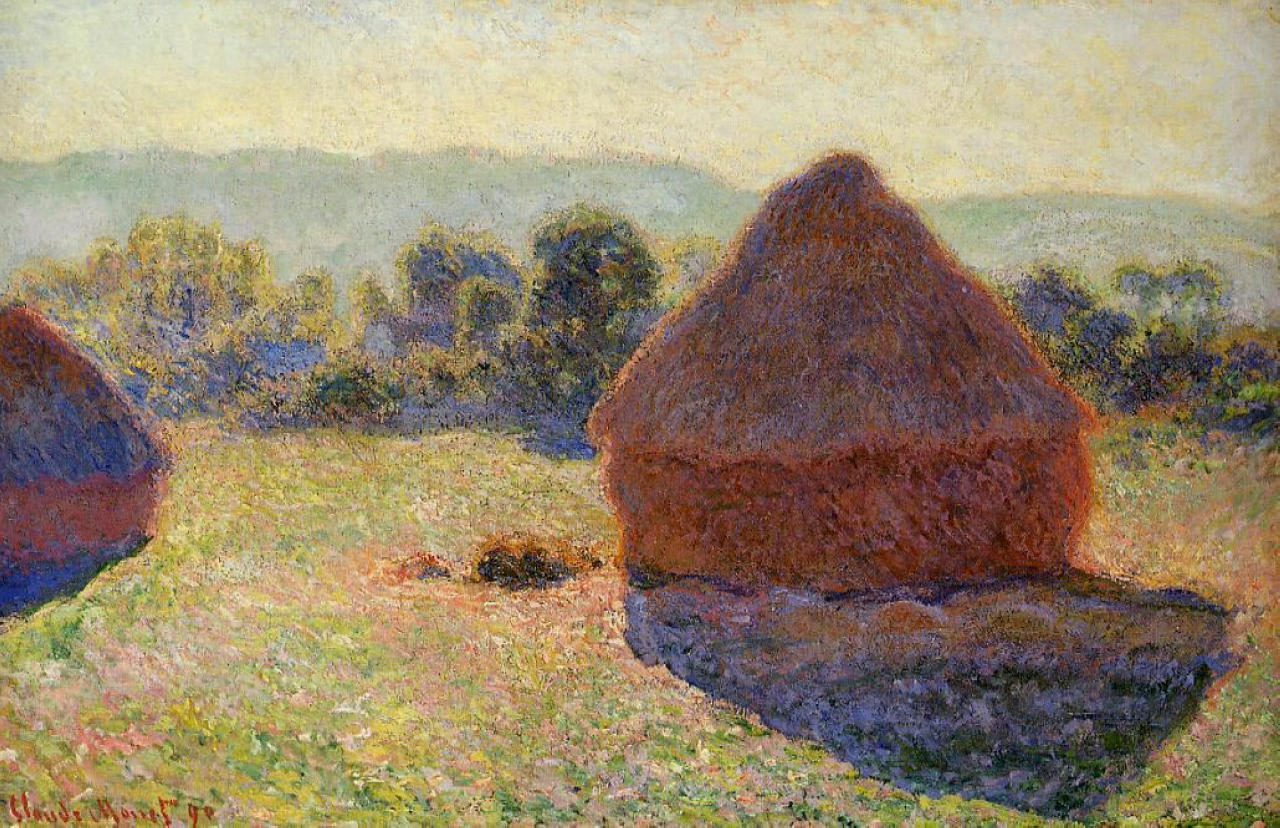 monets grainstack paintings