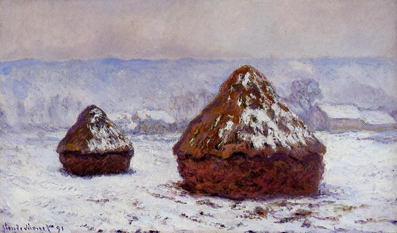 Grainstacks, Snow Effect 1891