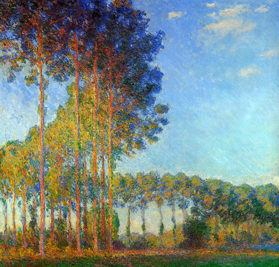 Poplars on the Banks of the River Epte, Seen from the Marsh 1892