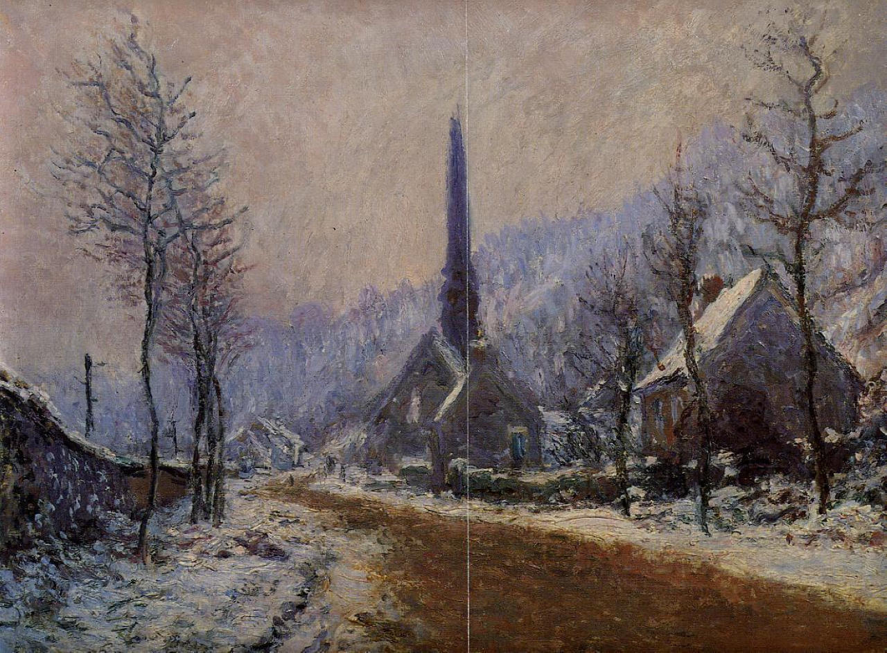 Church at Jeufosse, Snowy Weather 1893